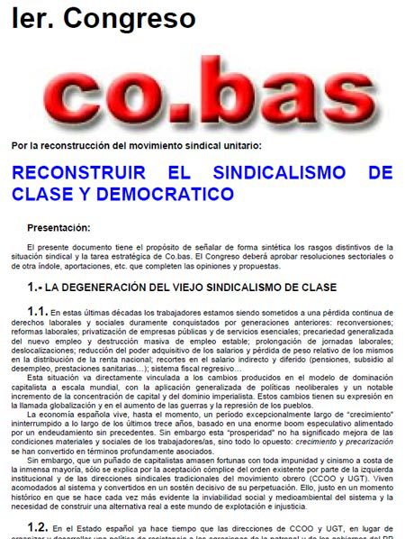 Primer Congreso co.bas 2006
